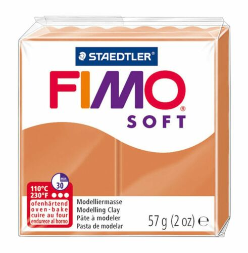 Set of 3 Cognac /& Caramel Choc 57g FIMO Soft Polymer Oven Modelling Clay