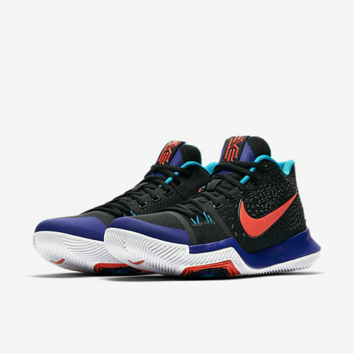 cb934c292390 Nike Kyrie 3 Kyrache Light Mens 852395-007 Black Concord Orange Shoes Size  10 for sale online