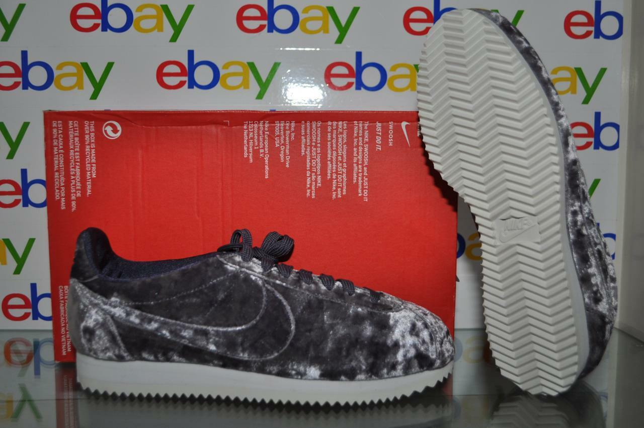 Nike Cortez Classic LX Dark Raisin Velvet Shoes AA3255 500 Womens 7.5 NIB Great discount