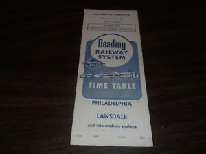 JUNE-1961-READING-COMPANY-PHILADELPHIA-LANSDALE-PUBLIC-TIMETABLE