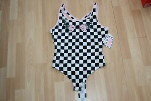 NWT-WOMENS-VANS-SZ-M-BODYSUIT-PLAID