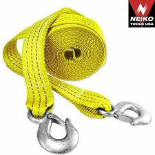 NEIKO 51005A - 2 in x 20 Ft 10,000 Lbs Polyester Emergency Tow Straps W/Hooks
