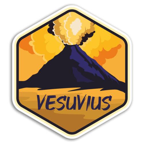 2 X 10cm Vesubio Pegatinas De Vinilo-Italia volcán Pegatina Laptop Equipaje #18725