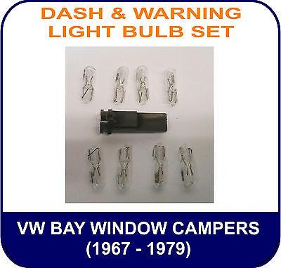 VW Bay Window DASH /& WARNING LIGHT BULB SET KIT Bulbs only Oil Alt Indicator