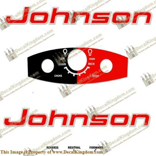 Johnson 1963 Outboard Decal Kit (Multiple Sizes Available) 3M Marine Grade