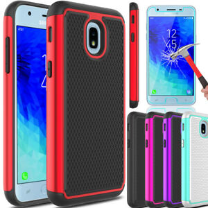 For-Samsung-Galaxy-J3-V-2018-Orbit-Star-Achieve-Armor-Case-With-Screen-Protector