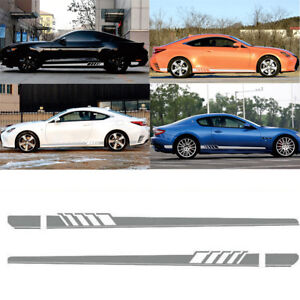 Car-Auto-Graphics-Both-Side-Body-Vinyl-Sports-Racing-Race-Car-Long-Stripe-Decals