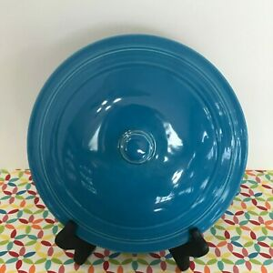 Fiestaware-Peacock-Covered-Casserole-Lid-Fiesta-Blue-Retired-Style-LID-ONLY