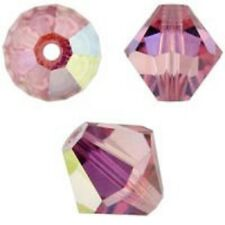 Swarovski Crystal Bicone. Light Rose AB  Color. 4mm. Approx. 144 PCS. 5328