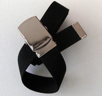 Nuovo 80cm Armygürtel In Nero Cintura Cinturone Cinturone Cintura Esercito Army-mostra Il Titolo Originale Non-Stireria
