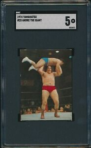 1974 Yamakatsu Andre The Giant SGC 5 New Japan Pro Wrestling Rookie RC #25 Card