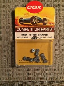 COX-1-24-SCALE-COMPETITION-SLOT-CAR-RACING-CHASSIS-12T-PINION-GEARS-SIDEWINDER