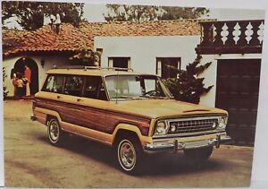 1975 75 WAGONEER SUV JEEP 4X4 AMC DEALERSHIP DEALER PROMO POSTCARD