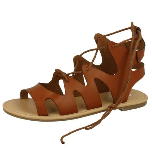 Womens Ladies Gladiator Lace Up Cross Over Wrap Around Strappy Sandals Shoes Siz