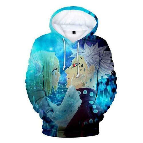 New Anime The Seven Deadly Sins Nanatsu no Taizai Hoodies Sweatshirts Pullover