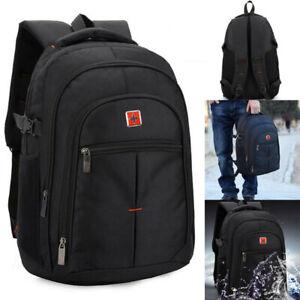 Waterproof-Men-Boy-Large-Backpack-Rucksack-Sport-Travel-Hiking-School-Bags-Black