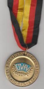 Orig.Goldmedaille / 1.Platz DDR Meisterschaft 1987 - VERSEHRTENSPORT / am Band - Deutschland / Ungarn, Deutschland - Orig.Goldmedaille / 1.Platz DDR Meisterschaft 1987 - VERSEHRTENSPORT / am Band - Deutschland / Ungarn, Deutschland