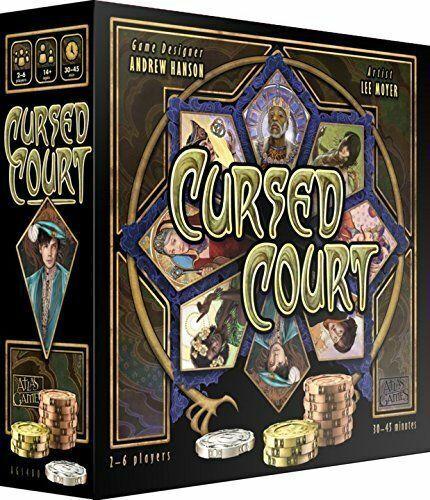 Tribunal de juego de mesa Juegos de Atlas maldito Royal noble intriga Nuevo Sellado
