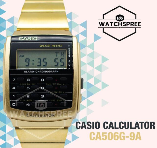 Casio Calculator Watch CA506G-9A AU FAST & FREE