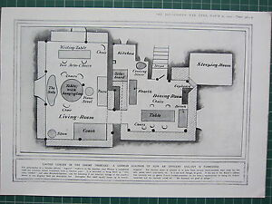 Fantastic Details About 1915 Wwi Ww1 Print German Trench Diagram Officers Dug Out Furnished Wiring Cloud Oideiuggs Outletorg