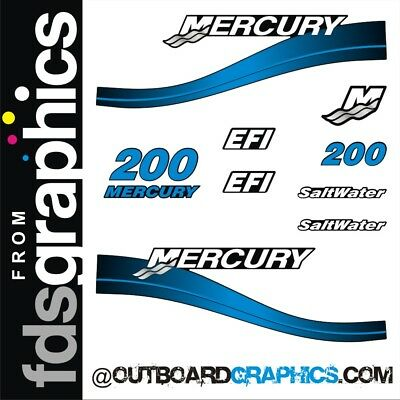 EFI OUTBOARD DECALS MERCURY 200hp