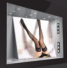 Designer Strumpfhose halterlose für Strapse oder Dessous Set Nylon schwarz S M L
