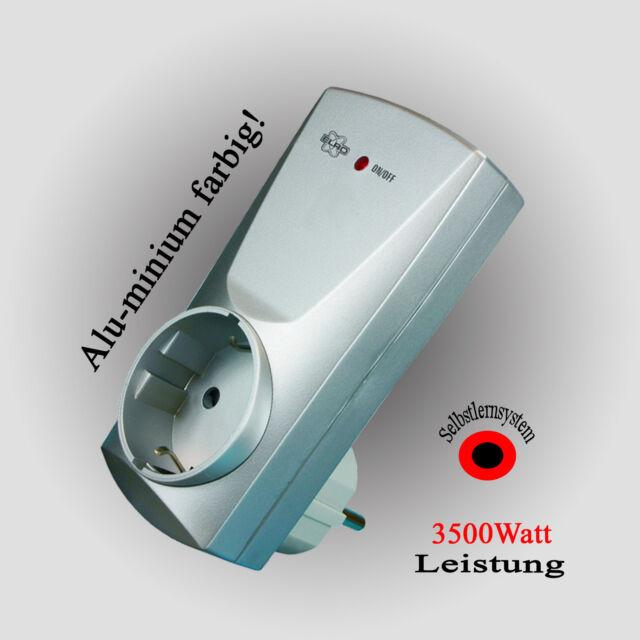 Selbstlernender Funk Schalter ELRO AB600SA Funksteckdosen 3500W silber 433,92MHz
