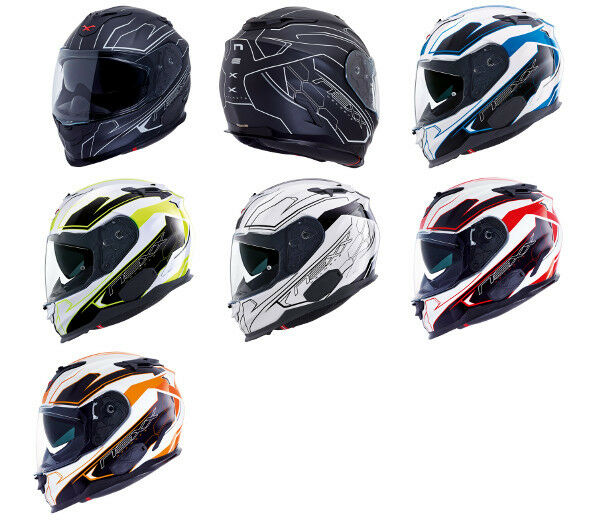 CLOSEOUT NEXX X.T1 White Plain XT1 Full Face Motorcycle Helmet S M L XL