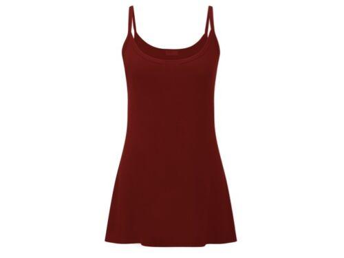 Nouveau débardeur femme sangle débardeur PLAIN Cami T-shirt Femme Extensible Grandes Tailles 28 jours