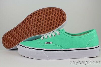 VANS AUTHENTIC COCKATOO GREEN/TRUE WHITE/BLACK BEACH GLASS SEAFOAM US WOMEN SIZE