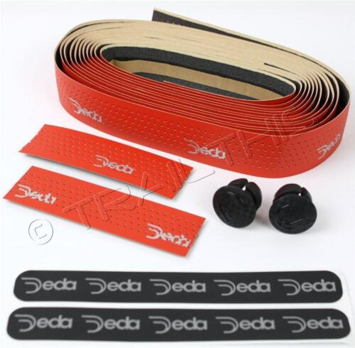 Deda Elementi Mistral Road Bicycle Handlebar Drop Bar Tape Synthetic Leather RED