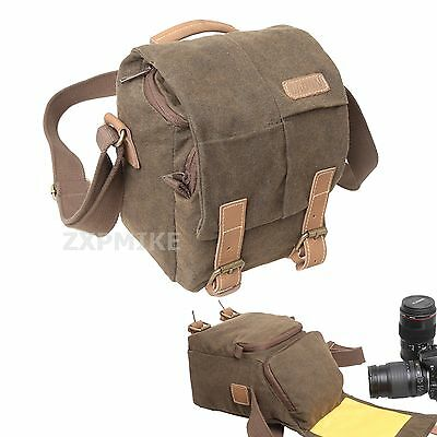 Canvas Waterproof Walkabout Shoulder Bag For Sony α6000 α5000 HX60 HX50