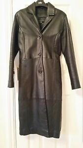 Coat C35ins Trench Pali M Leather Chest C89cms Real Black Lambskin Uk10eu36us6 xUUwzXqB