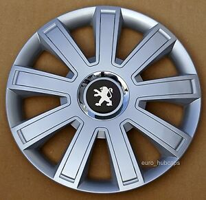 """silver 14"""" wheel trims, hub caps, covers to peugeot 206 (quantity"""