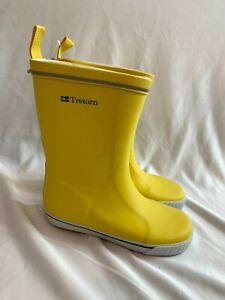 Tretorn Kids Fleece Lined Rainboots NEW Size 35 US 3-3.5 Bright Yellow