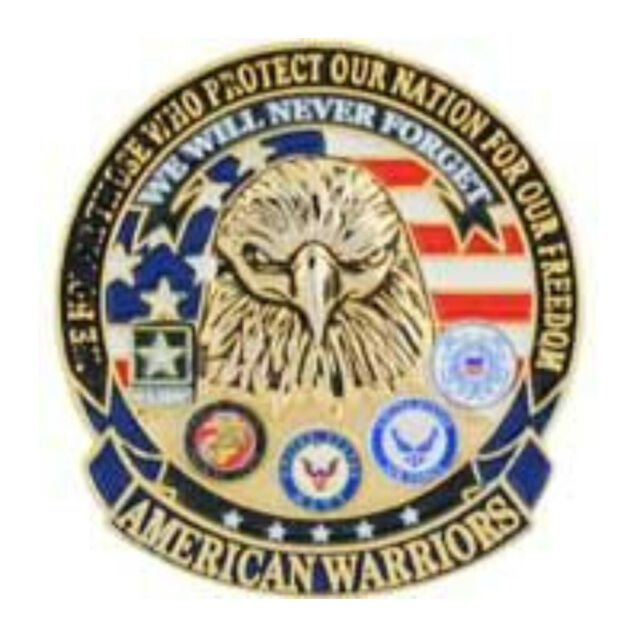 American Warriors Military Lapel Pin