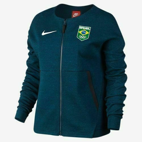 un poco interrumpir Apretar  Nike Team Brazil Tech Fleece Women's Track Jacket 806997 Brasil Jersey for  sale online | eBay