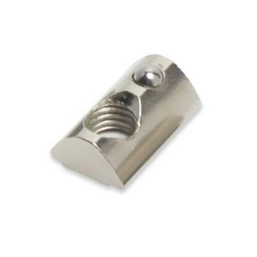 Kohlenstoffstahl T-Mutter Innen Rolle Kugel Farbe Silber Zubehör Accessories