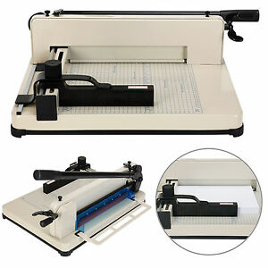 "Heavy Duty 12"" Guillotine Paper Cutter A4-B7 Trimmer Sheet Metal Base Commercial"