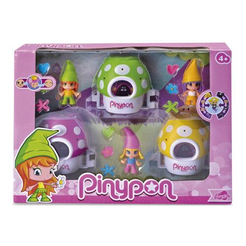 Famosa 700012820 Pinypon Pack, 3 enanitos con sus setas mágicas - New Sealed