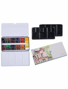 Watercolour-Paint-Field-Sketch-Paint-Set-24-Full-Pan-Colors-with-Watercolour-Tin
