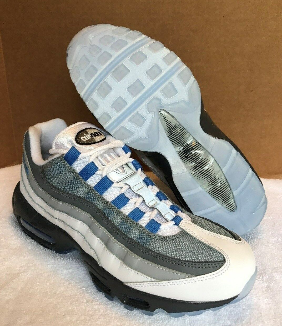 half off c1c8d 13255 ... ireland nike id shoes air max 95 womens shoes id size 8 white blue grey  818593