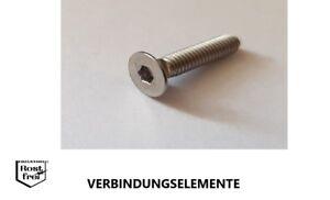 25 Senkkopfschrauben Innensechskant DIN 7991 A2 M2,5X10 SCHWARZ