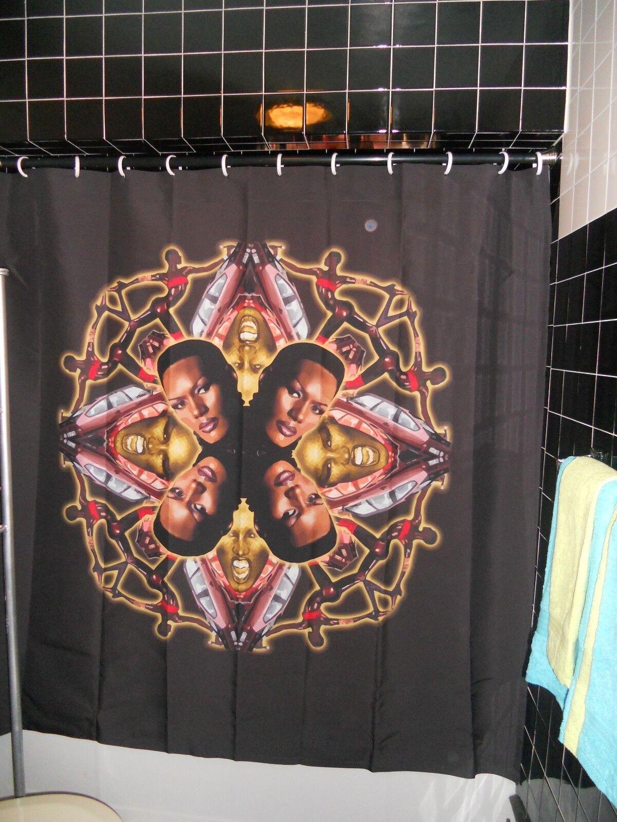 Officially Licensed  Herrington Größe Jones Collage Shower Curtain Island Life