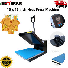 15 X15digital Clamshell T Shirt Heat Press Machine Sublimation Transfer For Diy