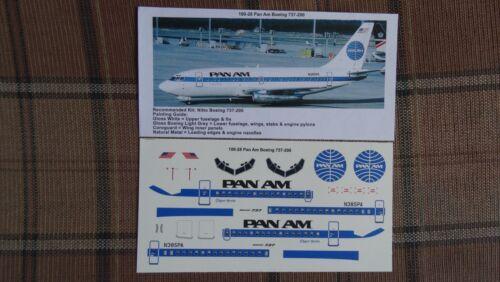 TwoSix decals 100-28 Nitto //Entex for Doyusha Boeing 737 1//100  Decal Pan Am