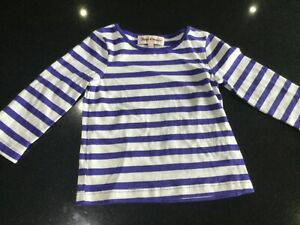 Juicy-Couture-New-amp-Gen-Baby-Girls-Striped-Cotton-T-shirt-Age-6-12-MTHS-amp-Logo