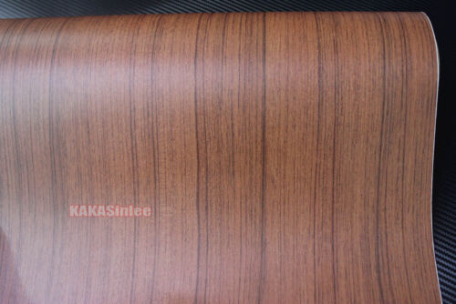 AB Decors Matte Glossy Wood Grain Textured Vinyl Wrap Sticker Car Home Change