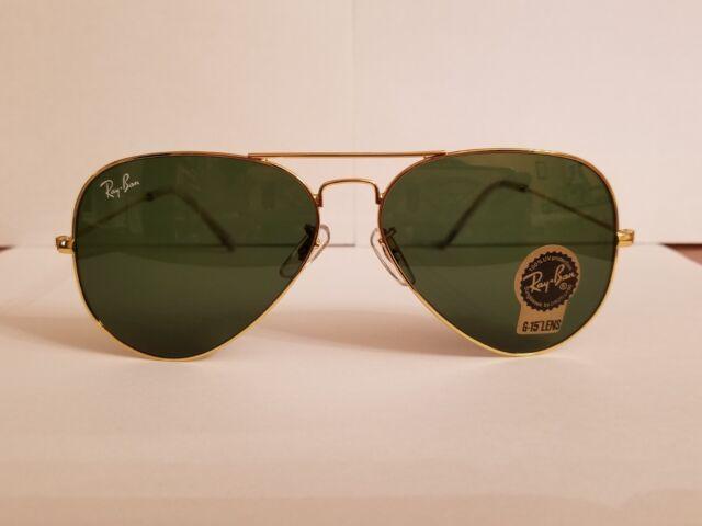 5d2d364a31a New Ray-Ban Aviator Sunglasses RB3025 Gold Frame Green Lens 58mm