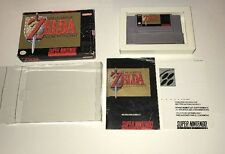 The Legend of Zelda: A Link to the Past SNES In Box W/ Manual No Map Free Ship!